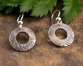 Silver Circles in Circles Earrings
