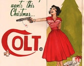 Vintage Ad Parody - Colt for Christmas, artwork by Joëlle Jones