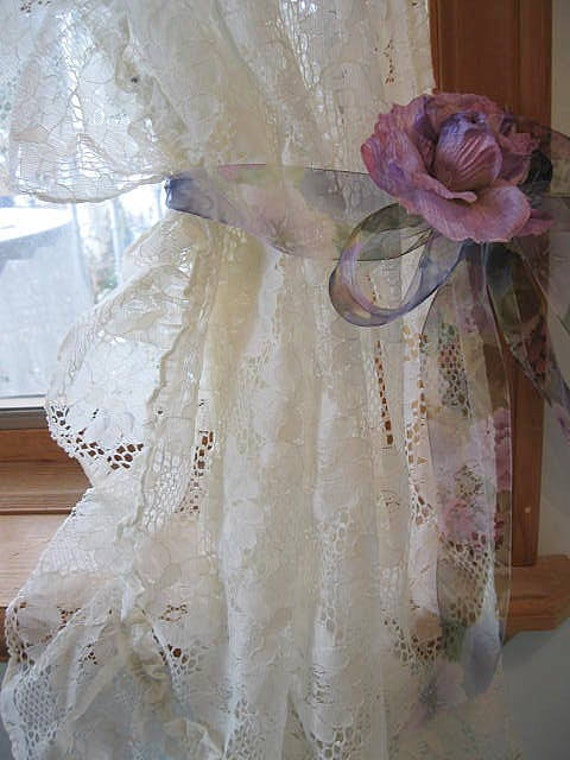 lace curtains frilly curtains shabby chic shabby cottage