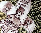 We Three Inventors Keepsake / Ceramic Art Wall Hanging in Chocolate & Sepia