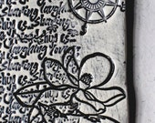 Friendship - Tag Style Ceramic Wall Hanging - Ornament - Keepsake - Gift Tag -- Bird