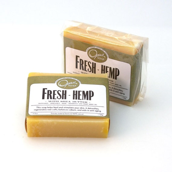 Fresh Handmade Fresh Hemp Soap -- USA Made while listening to MOZART, Bach, and other Classical Composers