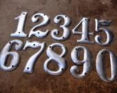 Vintage Metal Numbers Aluminum House Numbers 1 2 3 4 5 6 7 8 9 0