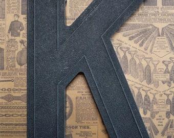 Vintage Alphabet Black Plastic Letter Signage Primitive Sign Marker Tag Sign K