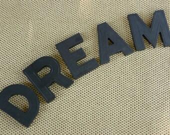 Vintage DREAM Alphabet Block Style Signage Black Marquee Letter Sign Decor