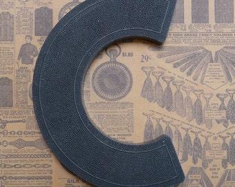 Vintage Alphabet Black Plastic Letter Signage Primitive Sign Marker Tag Sign C