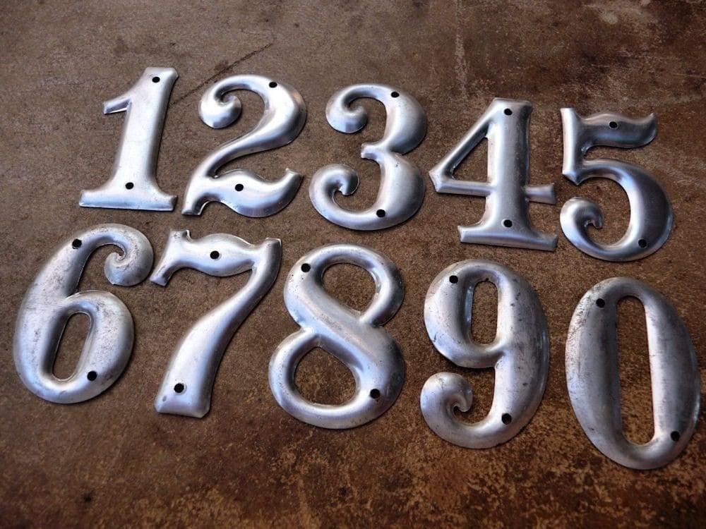 Industrial Numbers Vintage Metal Numbers Aluminum Numbers