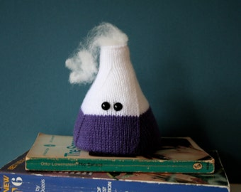 Amigurumi frothing flask paperweight - PURPLE