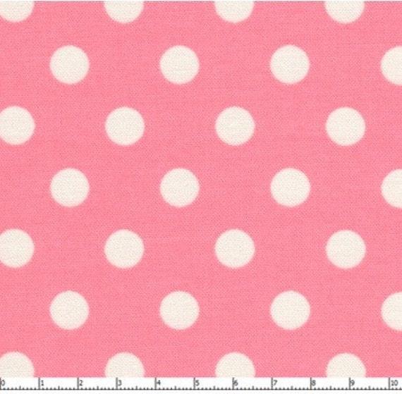 1m lecien japanese pink polka dot fabric. Black Bedroom Furniture Sets. Home Design Ideas