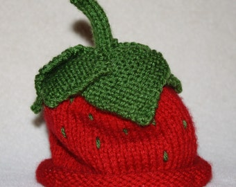 Sweet Strawberry Hat for Baby or Toddler