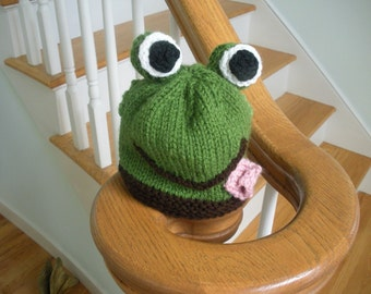 Ribbit, Ribbit.....  Adorable baby/toddler frog hats