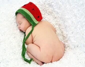 Yummy Watermelon Baby Bonnet