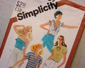 Simplicity 5509 One Yard Tops Pattern 1982 Size 14 Four Styles