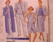 McCalls 3005 Pattern Duster Coat, Shirt Jacket, Top, Skirt, Pants, Shorts 1987
