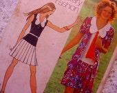 Vintage Simplicity 9914 Mini-dress w/ Cardigan Pattern 1972 Size 14