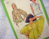 Vintage Simplicity 8348 Blouse Pattern 1977 Size 8 UNCUT