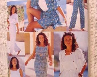 Butterick 4054 Pattern Wardrobe Dress, Top, Shorts, Pants Size 6 thru 10 1990s