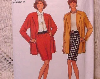 Simplicity 8083 Pattern Skirt and Jacket 90s Size 8 to 20