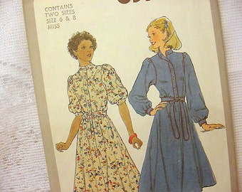 Vintage Simplicity 8335 Dress Circle Style Pattern  1978 Size 6 - 8 Sewing