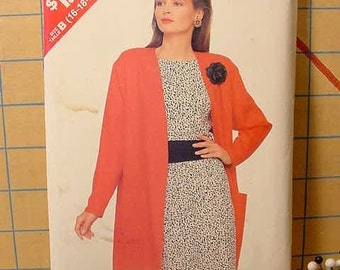Butterick 6897 Sew and Sew Pattern Jacket, Top, Skirt and Sash Size 16 thru 24