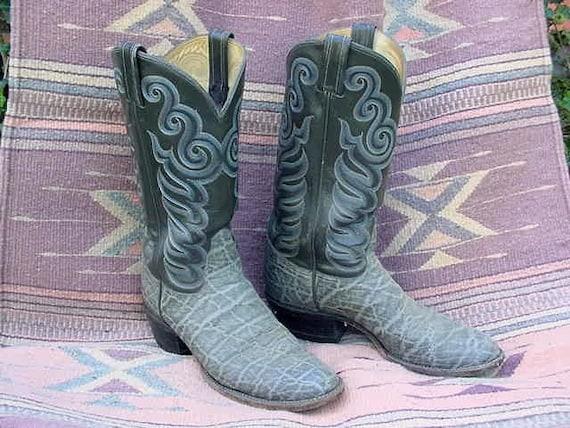 Sale Classic Mens Cowboy Boots By Tony Lama Gray Exotic