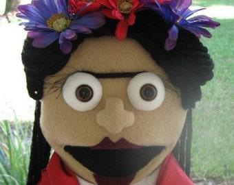 Frida Kahlo MePuppet, custom puppet, portrait puppet