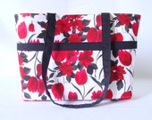 Medium Handbag Red Floral Purse