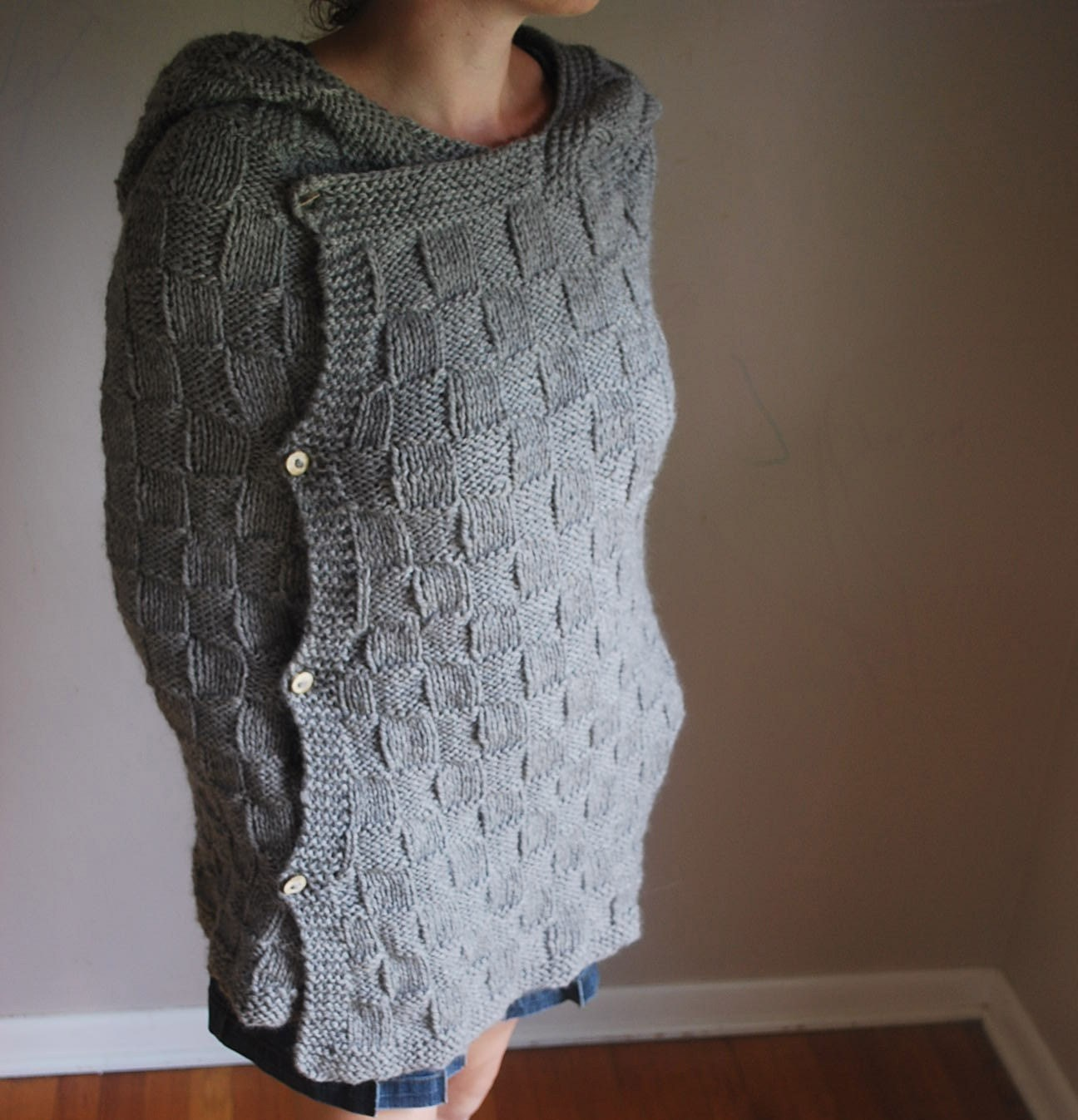 Knitting Pattern Long Cape : Adult Cape Cod Hooded Cape Pattern