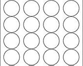1.67 inch circle, removable white labels, 3 sheets (72 labels)
