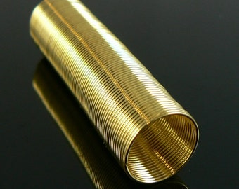 0.5 inch gold plated stainless steel TOE RING memory wire, 1 oz. (approx. 269 loops)