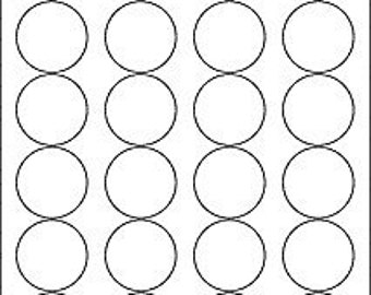 "1.67"" circle, matte white, printable labels with REMOVABLE adhesive, 3 sheets (72 labels). For jar lid labels, thank you stickers, products!"