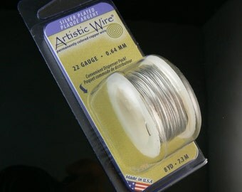 22 gauge non-tarnish silver plated artistic wire, 8 yd spool