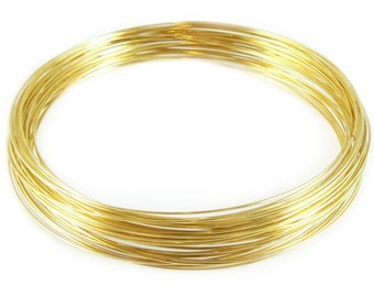 3.6 inch gold plated stainless steel necklace memory wire, 12 loops