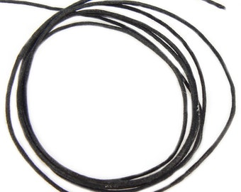 1mm black waxed cotton cord, 10 yards