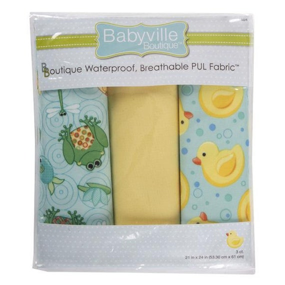 Cloth Diaper PUL Fabrics - Set of 3 Pre-cuts - By Babyville Boutique - PLAYFUL Pond and DUCKS