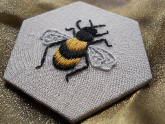 Bee crewelwork embroidery kit