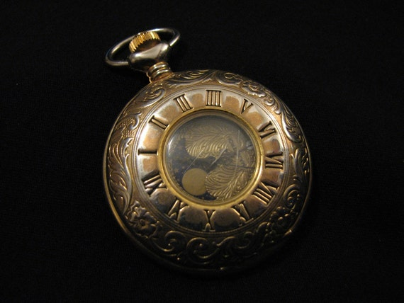 vintage majestron majesti gold tone large etched by
