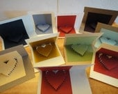 Heart Cards - Set of 5 mini cards