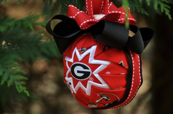 Items Similar To Uga Quilted Christmas Ornament University