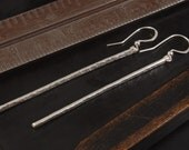 Fine Silver Twig Earrings