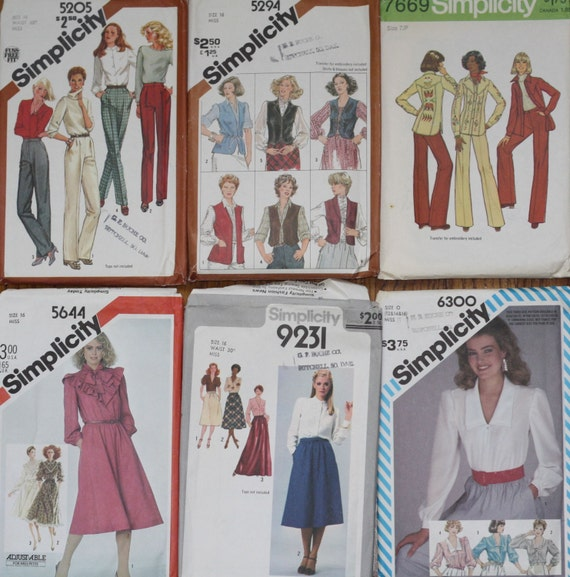 Vintage Pattern lot from 1970s and 1980s - 36 patterns