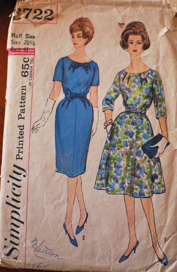 Simplicity Vintage Sewing Pattern 3722 B41