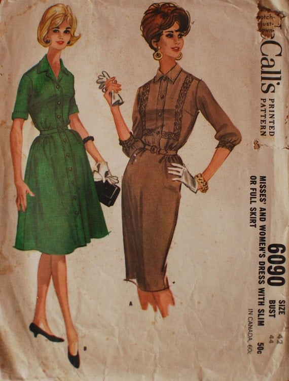 McCall's Vintage Sewing Pattern 6090 B44