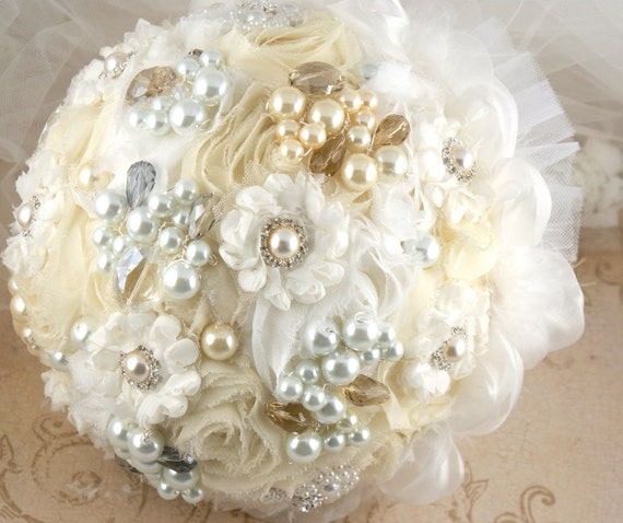 RESERVED for Tanya Brooch Bouquet Large and sash