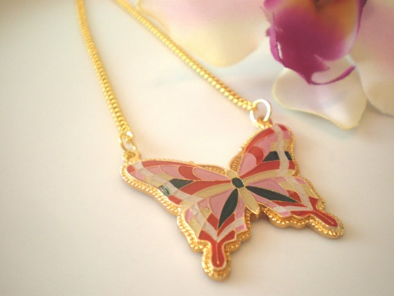Vintage Butterfly Necklace (Free Shipping)