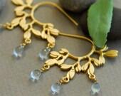 Blue bridal earrings, Something Blue, Dew drops earrings