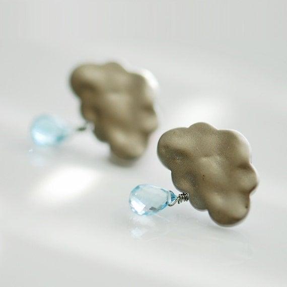 Summer rain earrings - Reserved listing for Huang
