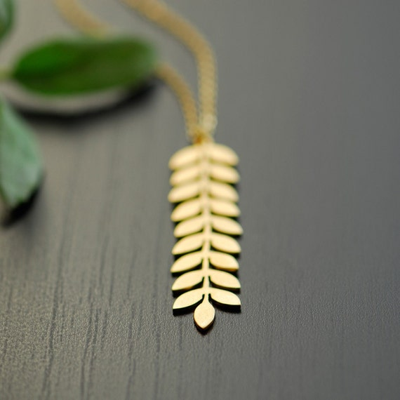 Gold pendant necklace, Vine necklace, Gold filled chain, Ancient necklace, Greek necklace