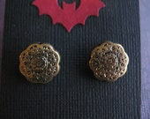 Steampunk / Victorian Gold Earring Posts