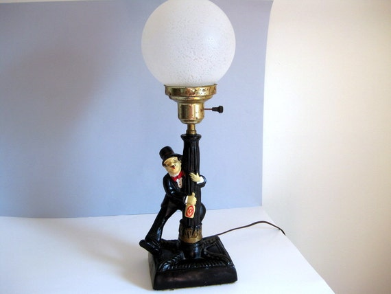 Vintage bar lamp drunk man